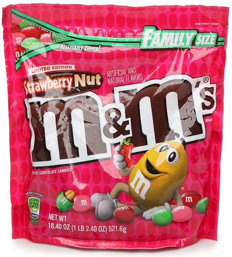 Bag of Strawberry Nut M&M's
